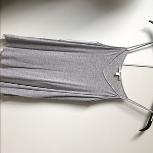 Light grey spaghetti strap